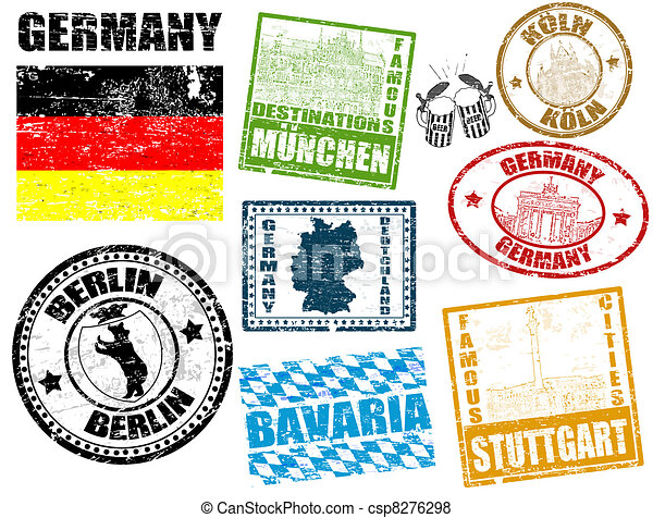 Stamps with Germany - csp8276298