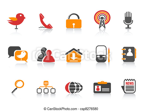 simple social media icons - csp8276580