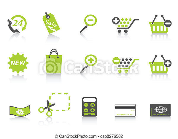 shopping icon green series - csp8276582