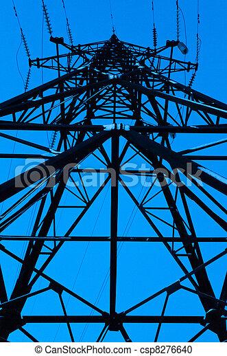 High power line viewed bottom