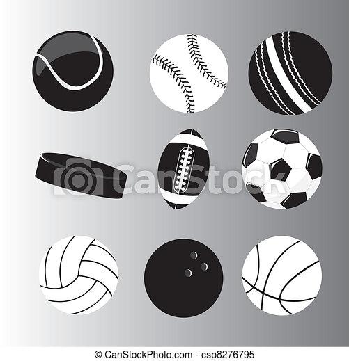 silhouette balls vector - csp8276795