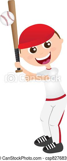 playing baseball - csp8276839