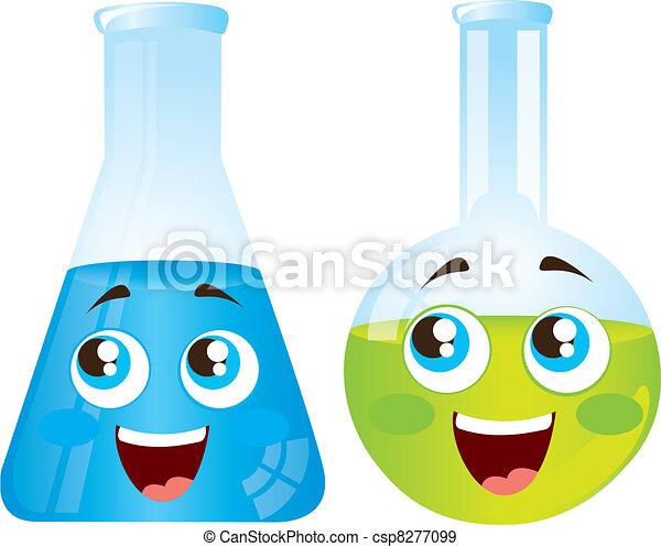 test tubes cartoons - csp8277099