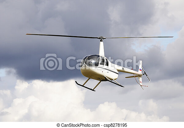 Light helicopter in flight - csp8278195
