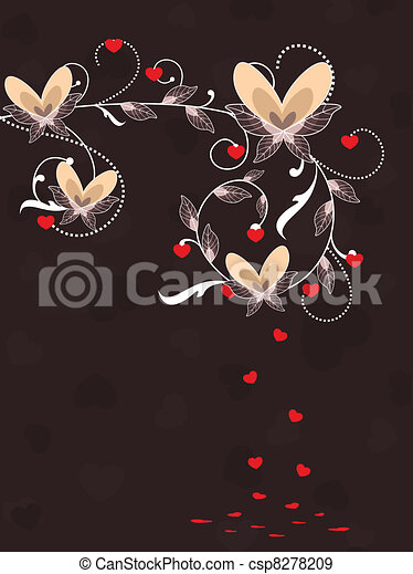 Unique abstract love card.vector illustration. - csp8278209