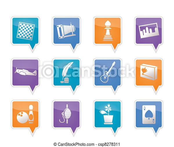 Hobby, Leisure and Holiday Icons  - csp8278311