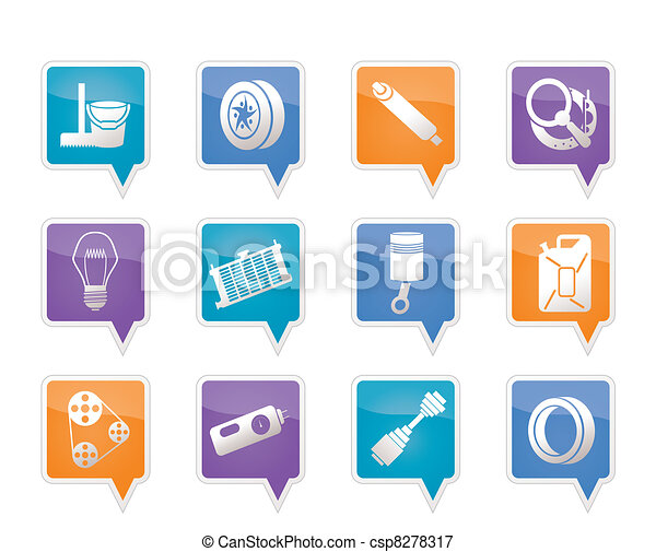 Car Parts and Services icons - csp8278317