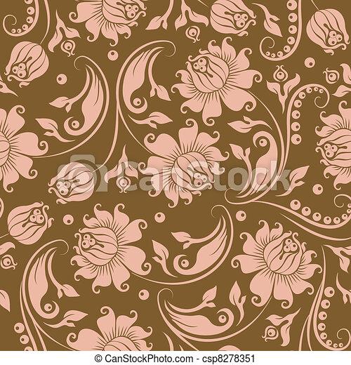 seamless floral pattern - csp8278351