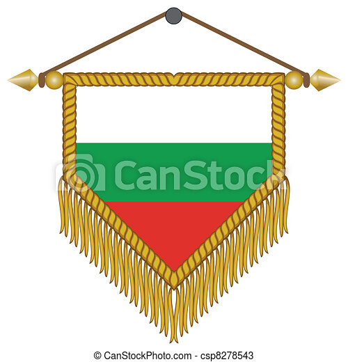 vector pennant with the flag of Bulgaria - csp8278543