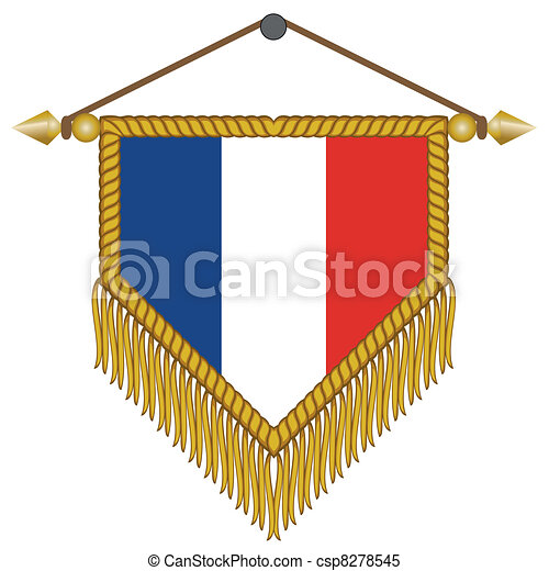 Vecteur Clipart de fanion, drapeau, vecteur, france - vecteur ...