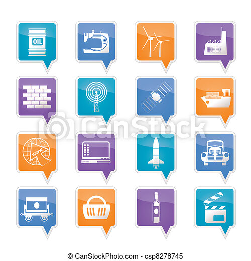 Business and industry icons - csp8278745