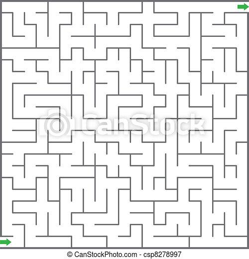 Vector illustration of  maze - csp8278997