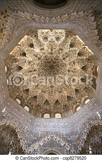 Nasrid Palace ceiling - csp8279520