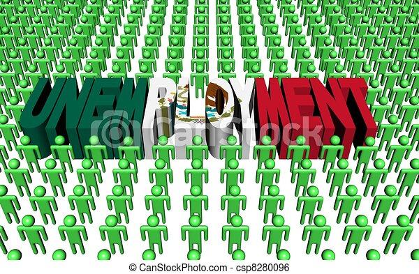 Mexican unemployment illustration - csp8280096