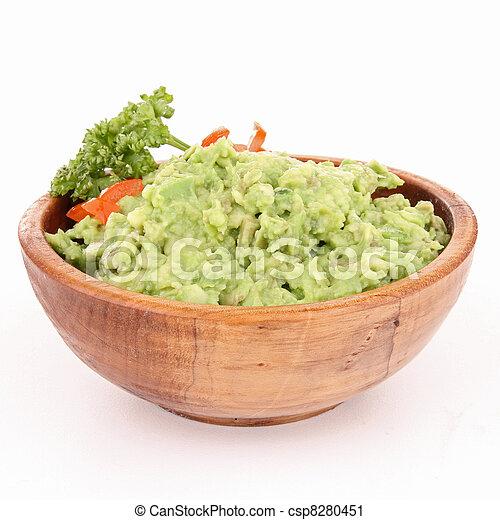 bowl of guacamole - csp8280451