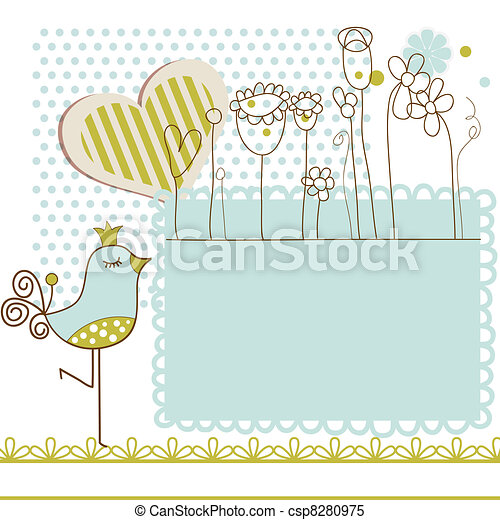 Baby shower with frame for text - csp8280975