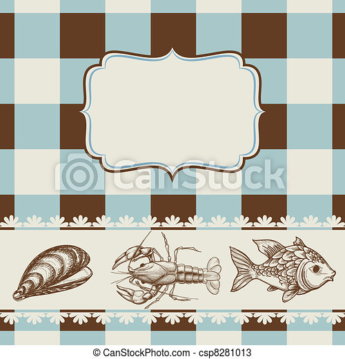 Sea food menu - csp8281013