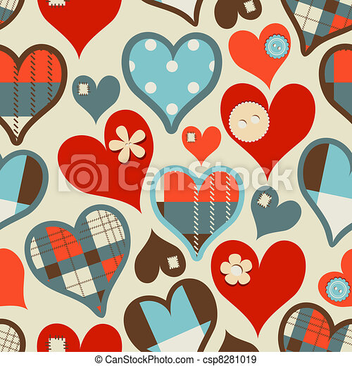 Hearts seamless pattern - csp8281019