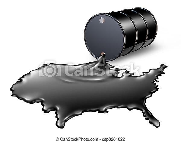 美國人, 油, 工業 - csp8281022