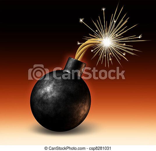 explodindo, bomba - csp8281031