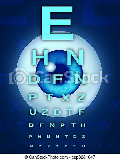 Eye Chart and Vision - csp8281047