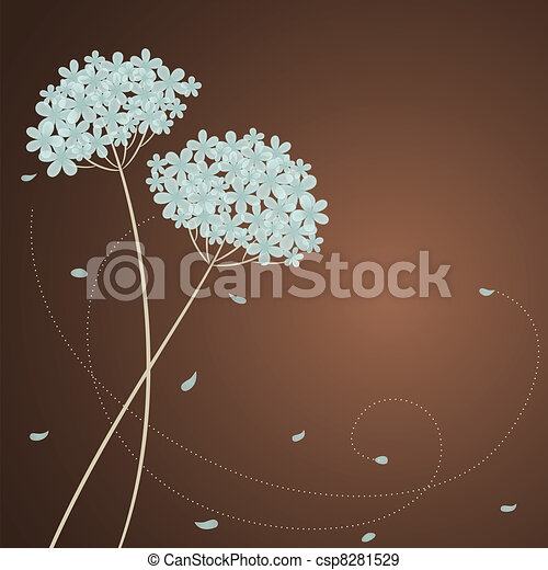 Greeting card with blue hydrangea - csp8281529