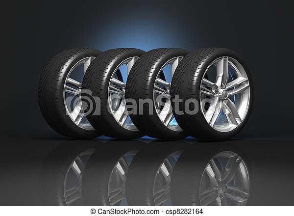 Set of car wheels - csp8282164