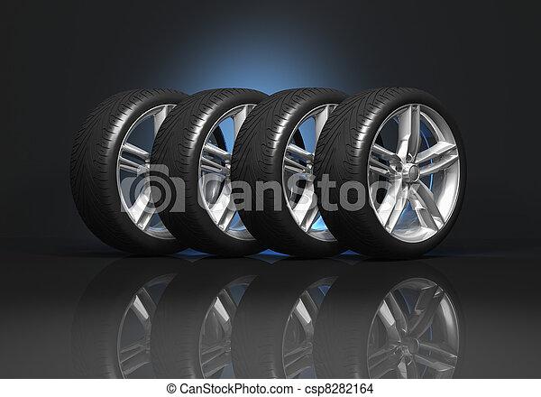 Set of car wheels - csp8282164