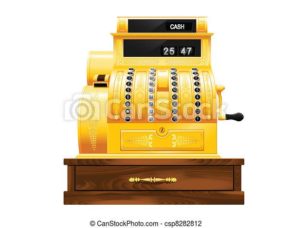 Antique cash register - csp8282812