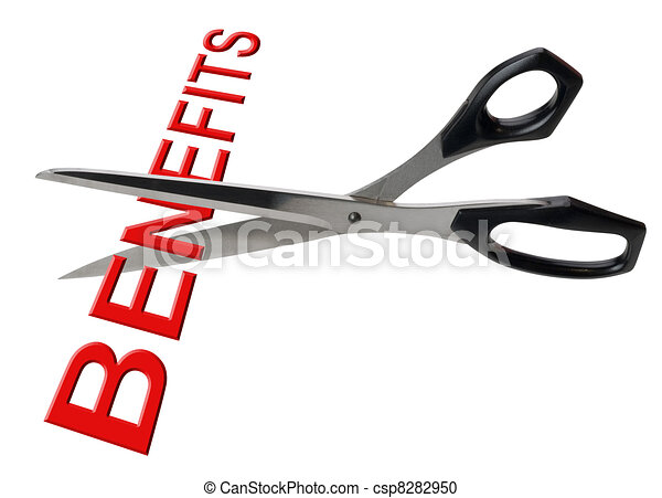 Cutting benefits, isolated - csp8282950