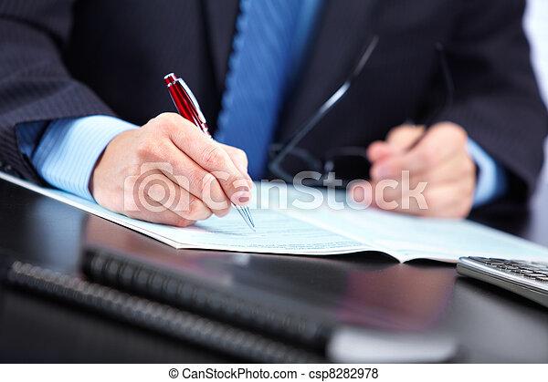 Accountant businessman. - csp8282978