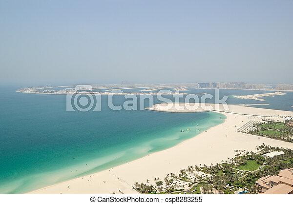 View on Jumeirah Palm artificial island, Dubai, UAE - csp8283255