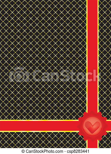 Valentines Day wrapper  - csp8283441
