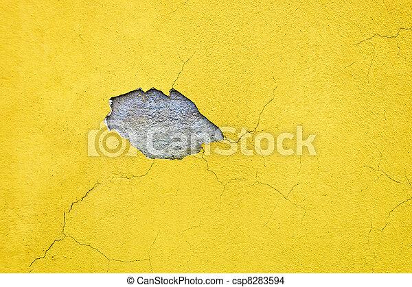 moisture on house facade - csp8283594