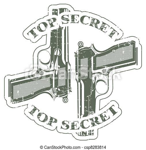 Top secret stamp - csp8283814
