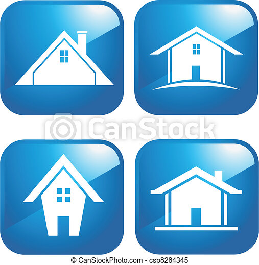 Blue Icon houses - csp8284345
