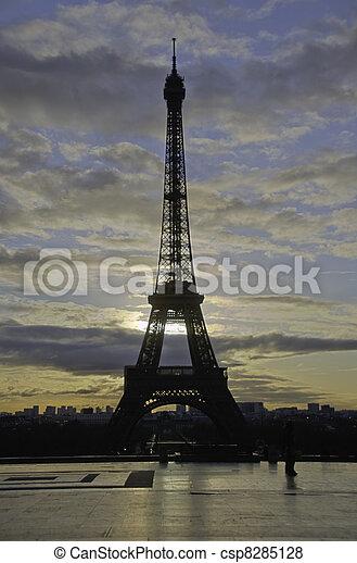 Paris in Winter - csp8285128