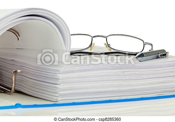 file folder with documents and documents - csp8285360