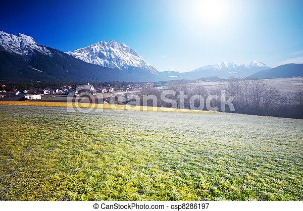 Spring Alpine scenery - csp8286197