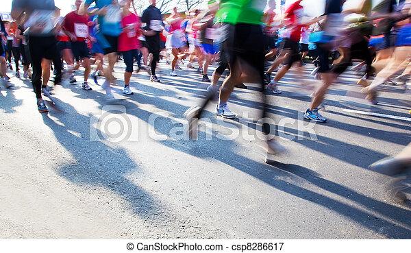 Running fast, marathon - csp8286617