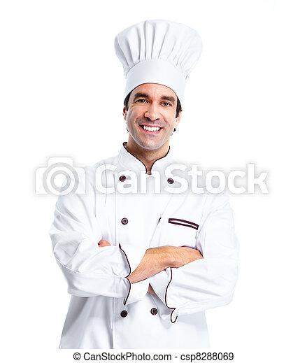 Professional chef man. - csp8288069