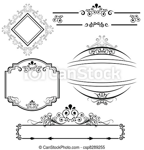 Border and frame designs - csp8289255