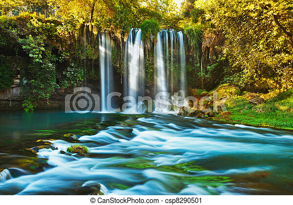 Waterfall Duden at Antalya Turkey - csp8290501
