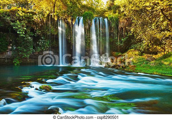 Waterfall Duden at Antalya Turkey - csp8290501
