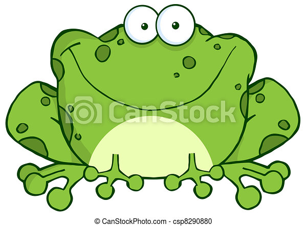 Happy Frog Cartoon Character - csp8290880