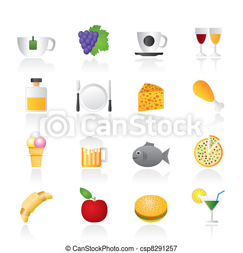 Food, Drink and beverage icons  - csp8291257