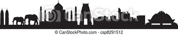 India skyline - csp8291512