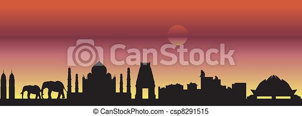 India skyline - csp8291515