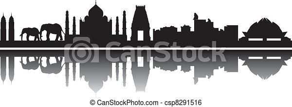 India skyline - csp8291516