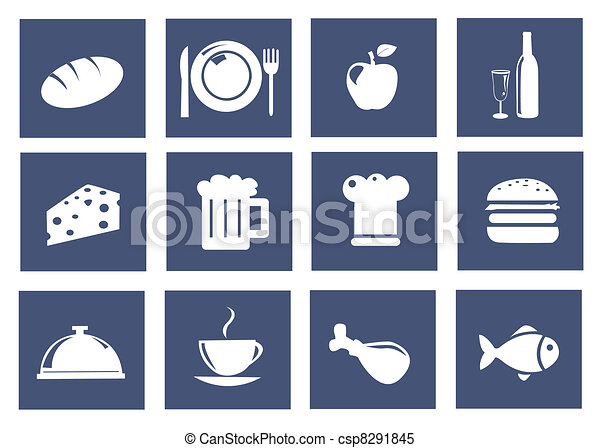 Kitchen and food icons - csp8291845